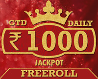 FreeRoll 1000 Jackpot. Daily @ 10:00 AM & 8:00 PM