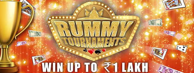Win up to Rs 1 Lakh in Rummy Tournaments