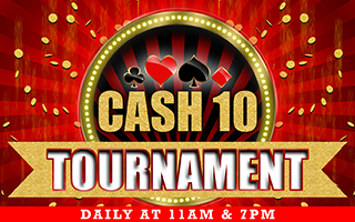 Tournament Cash 10 Win Up to Rs 500