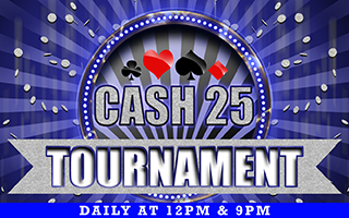 Tournament Cash 25 Win Up to Rs 750