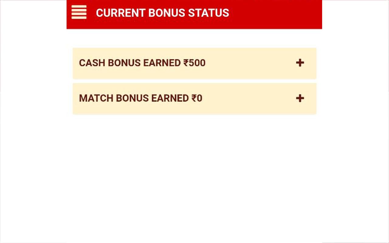 Current Bonus Status