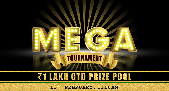 Mega Jackpot 1 Lakh GTD (Feb 13)