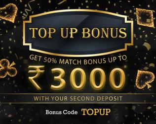 Grab Rs 3000 Top Up bonus on second deposit