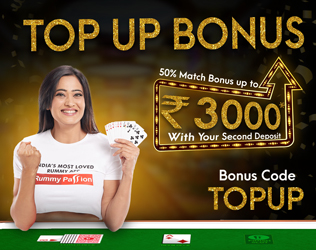 Grab Rs 3000 Top Up bonus on second deposit