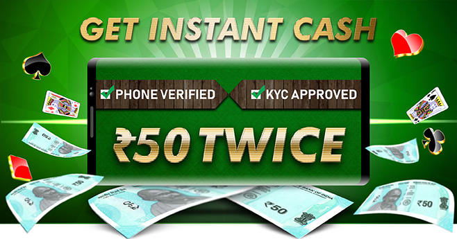 Instant Free Cash Bonus of Rs 50 + Rs 50 at Rummy Passion