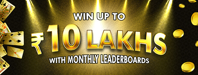 Win Up to Rs 10 Lakhs with Monthly Leaderboards