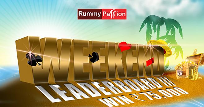 Weekend Leaderboard-III at Rummy Passion