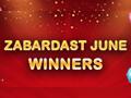 June 2016 - Top Ten Rummy Passion Winners