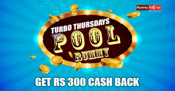 Turbo Thursdays Cash Back on Pool Rummy