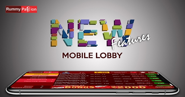 New Mobile Lobby Features at Rummy Passion