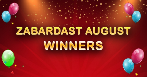 August 2016 - Top Ten Rummy Winners