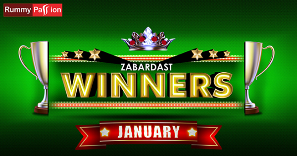 Congratulating the Rummy Winners of January 2020