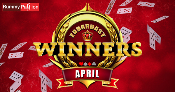 Who All Won at Rummy Passion in April 2019
