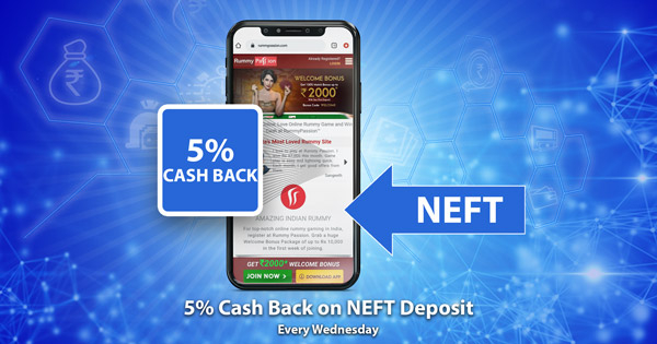 Cash Back on NEFT Deposits