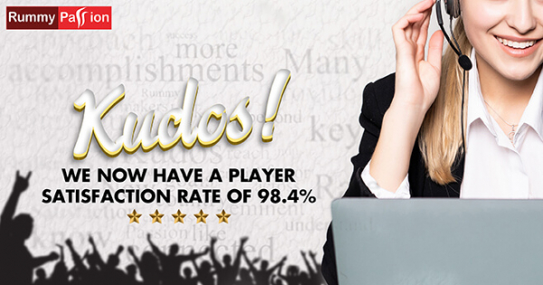 Kudos! Rummy Passion Now has Player Satisfaction Rate of 98.4%
