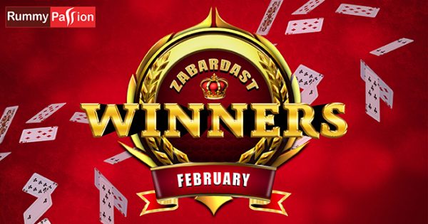 Big February Winners at Rummy Passion