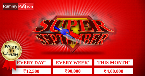Win 4 Lakhs in Super September at Rummy Passion