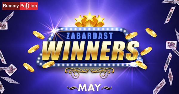 Rummy Passion Congratulates the May 2020 Winners