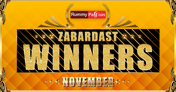 Big November Winners at Rummy Passion