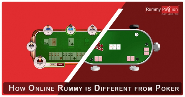 How Online Rummy is Different from Poker