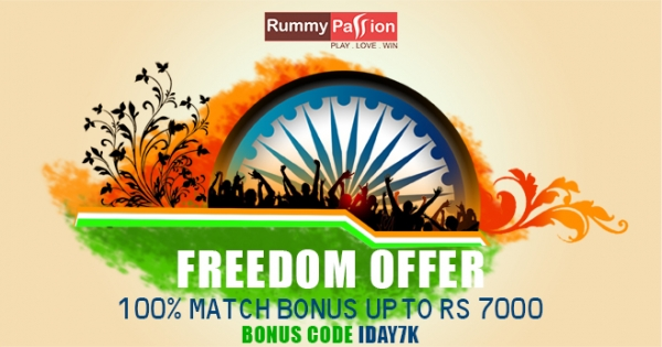 Celebrate our 71st Independence Day at Rummy Passion