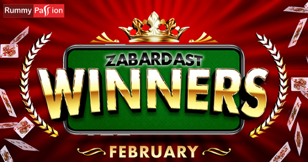 Rummy Passion Congratulates its February 2020 Winners