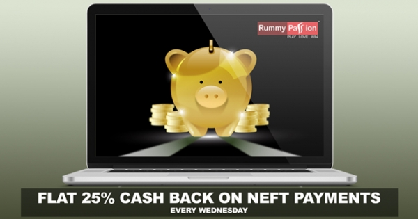 25% Cash Back on NEFT Deposits