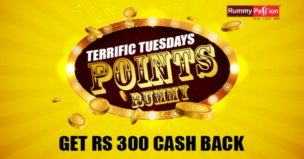 Terrific Tuesdays Cash Back on Points Rummy