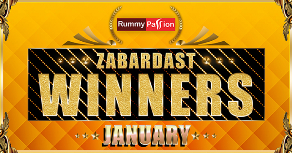 Rummy Passion Winners for January 2019