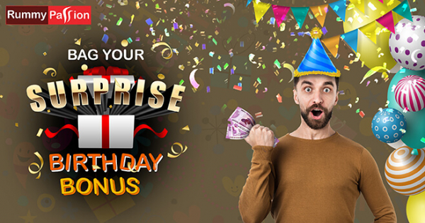 Bag a Fabulous Surprise Birthday Bonus at Rummy Passion!