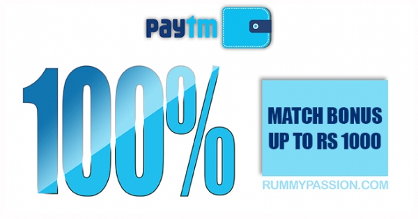 PayTM Promotions at Rummy Passion