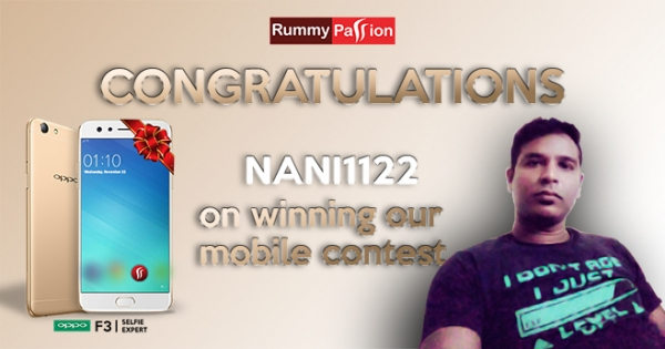 Win a Smartphone at Rummy Passion