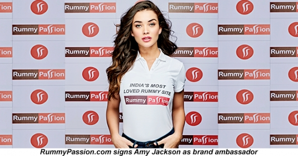 RummyPassion.com Engages Ms. Amy Jackson as Brand Ambassador