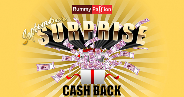 September Surprise Cash Back