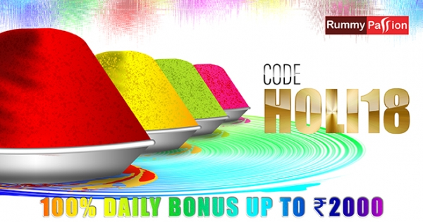 Amazing Holi Bonus at Rummy Passion