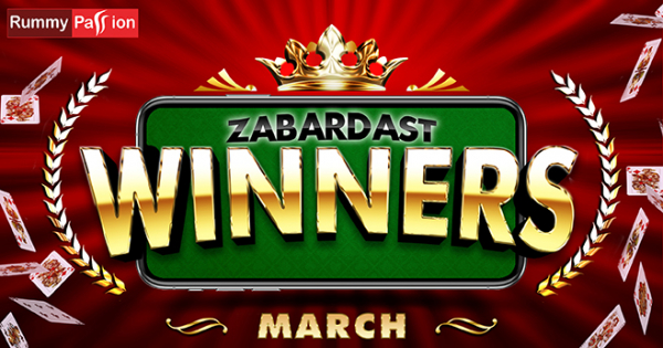 Rummy Passion Congratulates Its March 2020 Winners