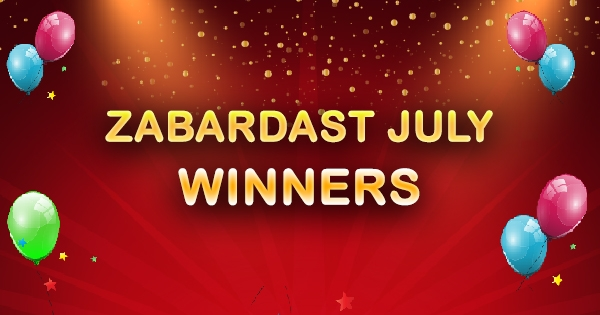 July 2016 - Top Ten Jubilant Rummy Passion Winners