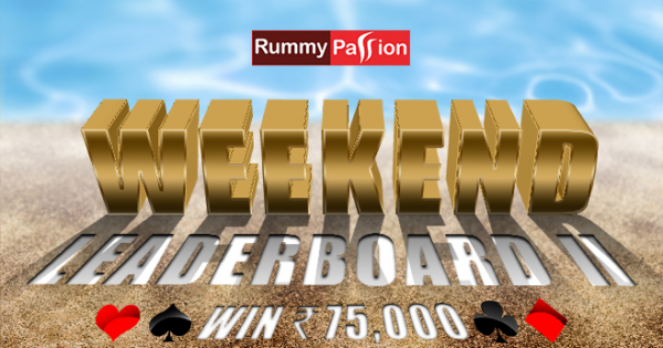 Weekend Leaderboard-II at Rummy Passion